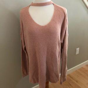 AEO Choker V-Neck Sweater